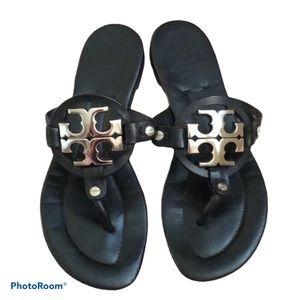 Tory Burch Miller Sandals Black Silver